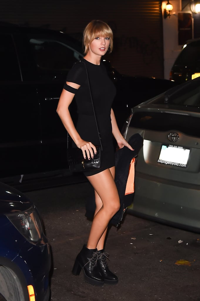 Taylor Swift turned the sidewalk into her own personal runway when she stepped out in NYC on Wednesday evening. The singer was joined by Cara Delevingne, Dakota Johnson, Lorde, Zoë Kravitz, Suki Waterhouse, and Martha Hunt as they headed to a private Kings of Leon concert in the city. Even though Taylor has been trying to keep a low profile, she's still making headlines. Following her highly publicised feud with Kim Kardashian, Kanye West publicly dissed her during his Nashville tour stop in September, and more recently, Demi Lovato had a number of critical things to say about Taylor's brand of feminism and her pack of female friends in the November issue of Glamour. While Taylor never publicly addressed those incidents, she did FaceTime with Dakota Johnson and Cara Delevingne shortly after.        Related:                                                                                                           Pick a Side in the 16 Most Explosive Celebrity Feuds That Went Down This Year