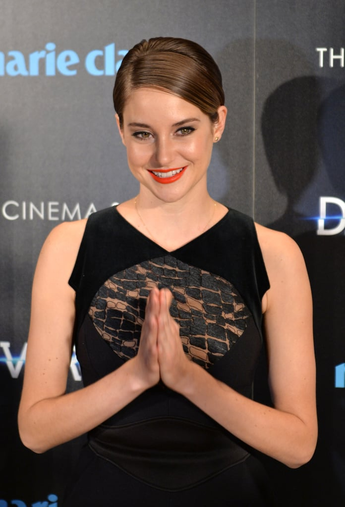 Shailene at the Marie Claire Divergent Screening