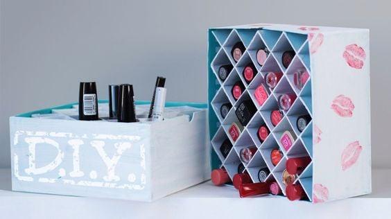 DIY Lipstick Box Organizer