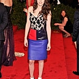 Kristen Stewart wore Balenciaga to the Met Ball 2012.