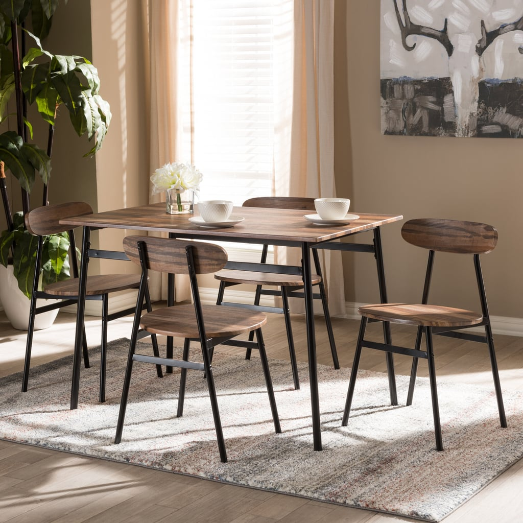 For A Mid-Century Aesthetic: Union Rustic Telauges 4-Person Dining Set