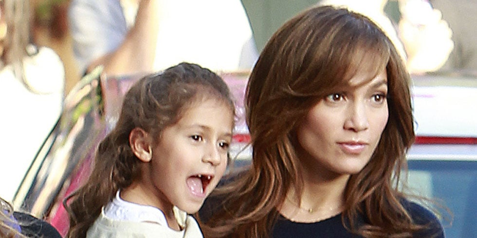 Jennifer Lopez With Twins Max and Emme on Set