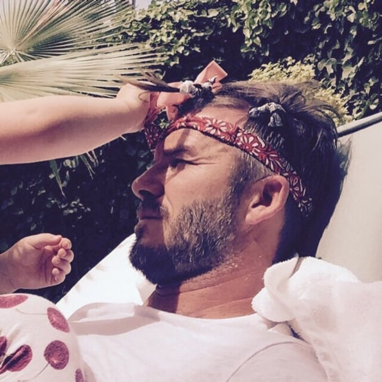 Harper Beckham Does David Beckham's Hair | Instagram Picture