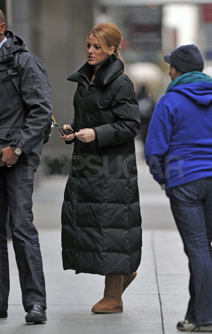 Blake Lively on the set of Gossip Girl in NYC.