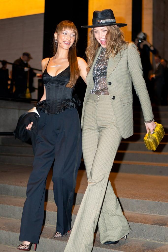 Bella and Gigi Hadid at Marc Jacobs's Wedding