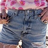 BDG Girlfriend High-Rise Denim Shorts in Light Wash