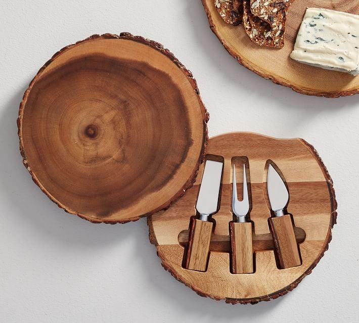 Acacia Wood Cheese Knives, Set of 3