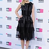 For the 2012 Critics' Choice Awards, Kirsten stunned in a black Christian Dior bow-adorned number and Jimmy Choo peep-toe sandals.