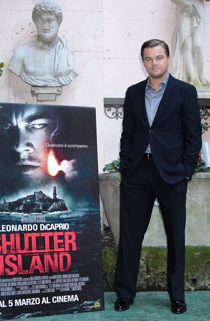 Photos of Leonardo DiCaprio And Martin Scorsese Promoting Shutter Island in Italy