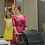 Stephanie Drake as Meredith and Christina Hendricks as Joan Harris on Mad Men.  Photo courtesy of AMC