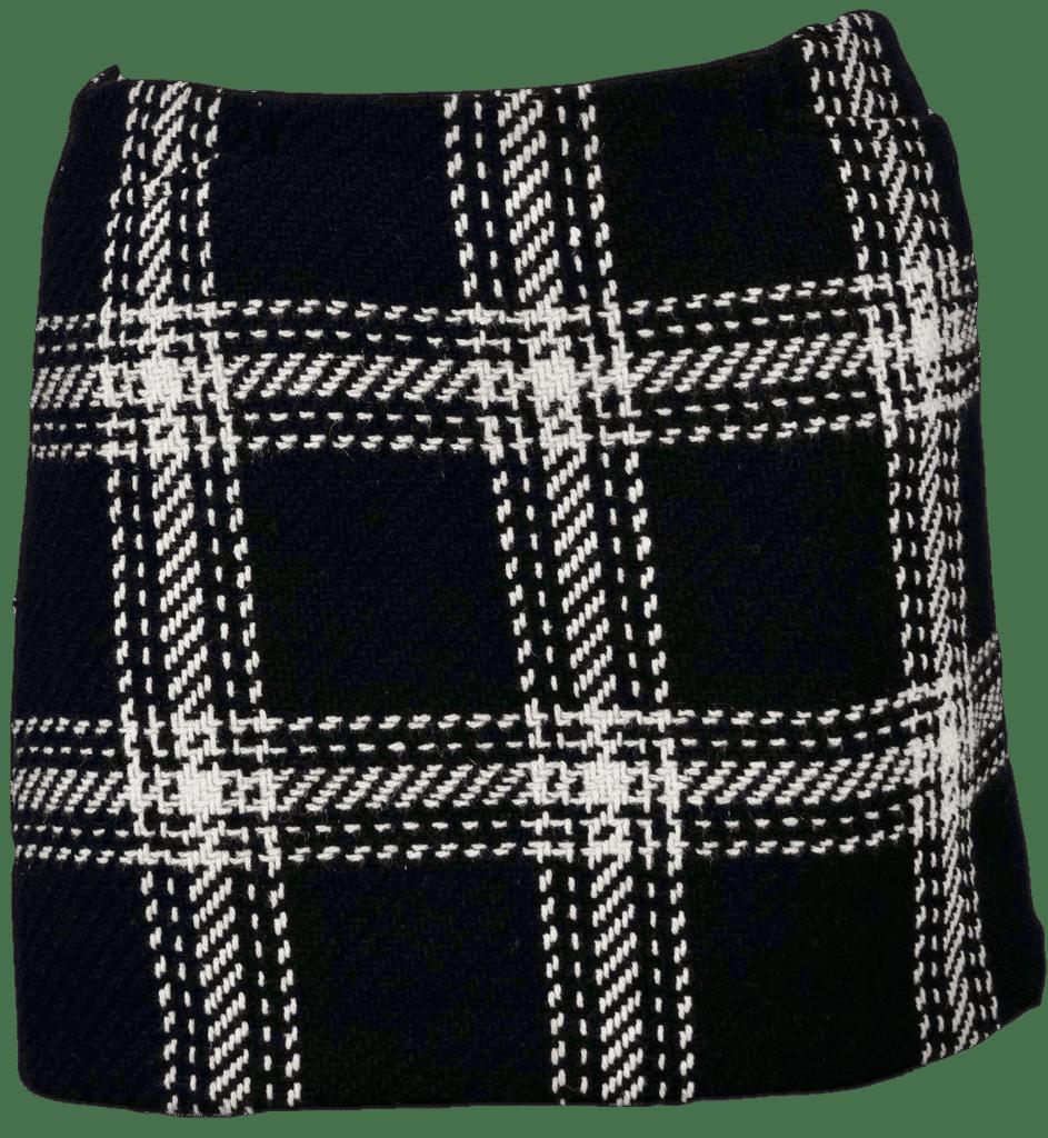 90's Black and White Plaid Mini Skirt by Gap