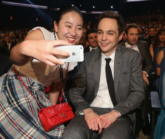 Jim-Parsons-smiled-midshow-selfie-during-People-Choice