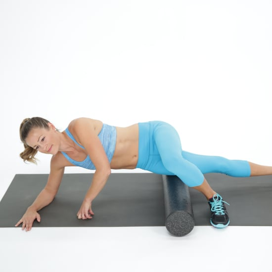 How to Foam Roll IT Band GIF