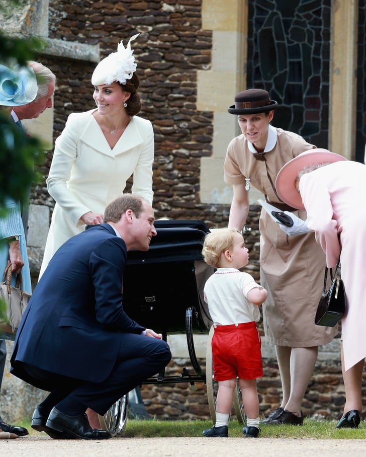 Prince George At Princess Charlotte's Christening