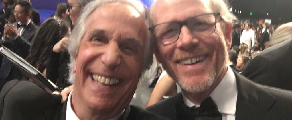 Henry Winkler and Ron Howard at the 2018 Emmys