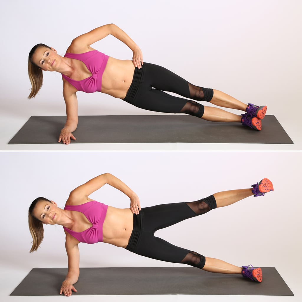 Circuit Three: Side Elbow Plank With Leg Lift | Burn-Fat, Build ...