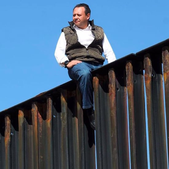 Mexican Congressman Scales Border Wall