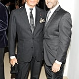 Valentino Garavani and Francisco Costa at the CFDA/Vogue Fashion Fund Awards.