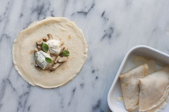 Meet the Crêpe's Italian Predecessor (+ Promptly Fill It with Cheese & Mushrooms)