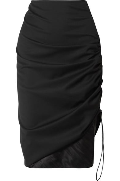 Commission Ruched Twill Skirt