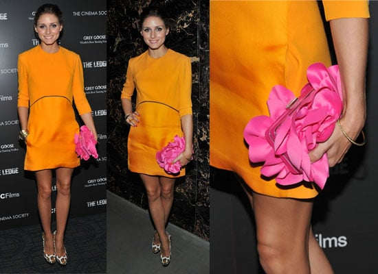 Pictures of Olivia Palermo wearing in Victoria Beckham Collection at screening of The Ledge in New York