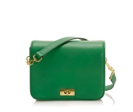 Keep it sophisticated and funky by pairing one cool kelly green hue with a classic bag shape. J.Crew Little Edie Purse ($168)