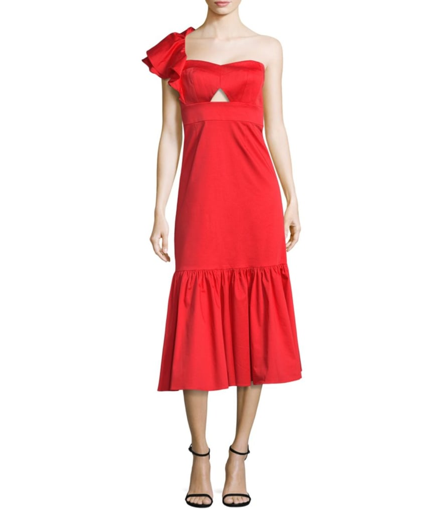 Rebecca Taylor One-Shoulder Flounce Dress
