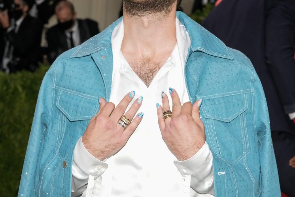 Ben Platt's Blue Swirl Manicure