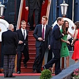Eugenie caught up with Will and Kate at the pre-party for their cousin Zara Philip's wedding in 2011.