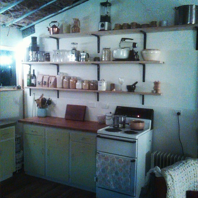 No proper home — shed or otherwise — is complete without a small kitchenette.