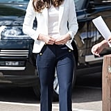 Kate in Zara and J. Crew, June 2017
