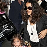 Salma Hayek wore all black for her trip to LAX.