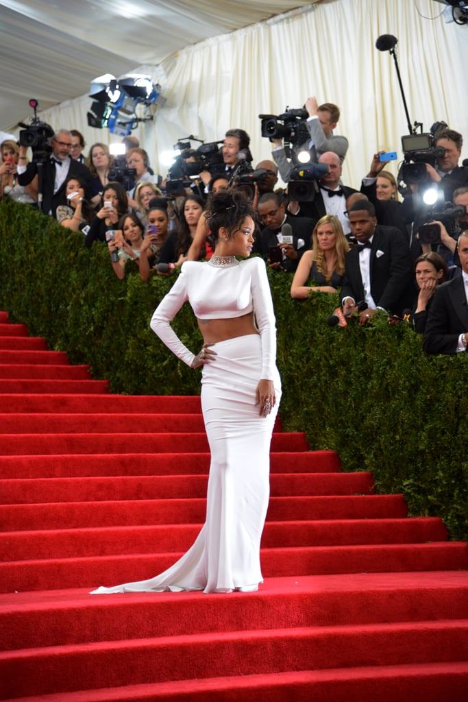 Rihanna paused for the cameras.