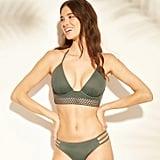 Tropics Light Lift Elastic Trim Triangle Bikini Top and Bottoms