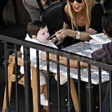 Rachel Zoe wore sunglasses at lunch.