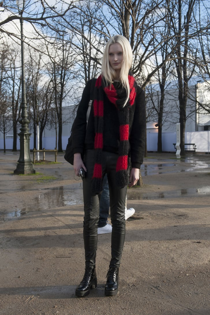 Pfw Model Street Style Day Seven Model Street Style At