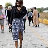 Christine Centenera at Milan Fashion Week