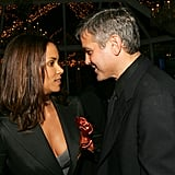 Halle Berry got George Clooney's attention at a January 2006 event in NYC.