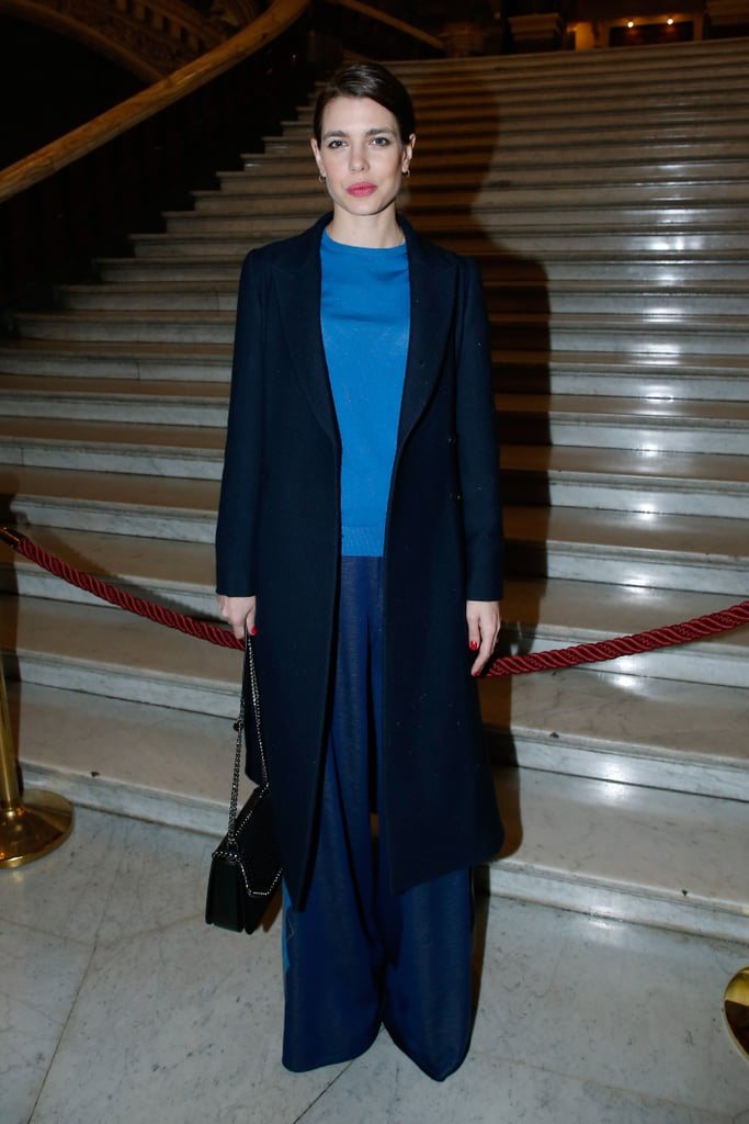 Charlotte wore three different shades of blue when she attended the Stella McCartney fashion show back in March 2017.