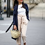 Style It With a Pair of High-Waisted Pants and a Silk Robe