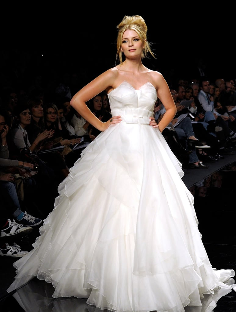 Photos of Mischa Barton Modelling a Wedding Dress for Rosa Clara at Barcelona Bridal Week