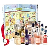 L'Occitane (£42)  This has 24 surprises worth £80 with products including The Vert & Bigarade Shower Gel, Cherry Blossom Eau de Toilette, and Verbena Cooling Hand Cream.