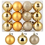 ZOGIN Christmas Ball Ornaments,Assorted Pendant Shatterproof Christmas Baubles Balls Ornaments Set