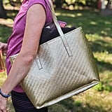 Champagne Gold Weave Insulated Cooler Lunch Tote Bag