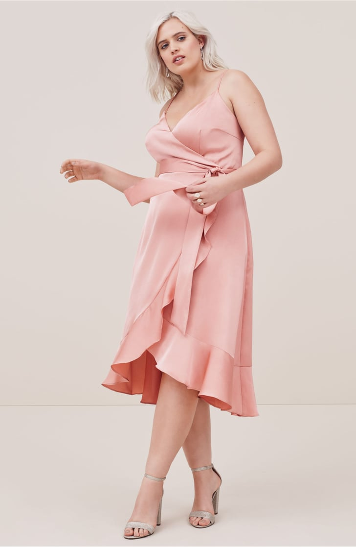 Cooper St Marilyn Satin Faux Wrap Dress Fall Wedding