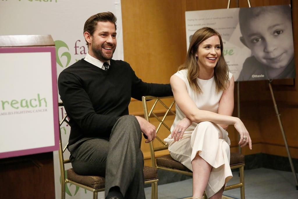 Emily Blunt and John Krasinski at Family Reach November ...