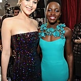 Jennifer and Lupita Nyong'o posed for the perfect picture.