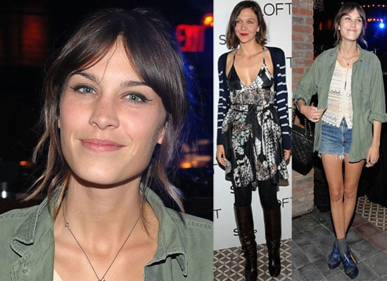 Photos of Alexa Chung and Maggie Gyllenhaal at LOFT Launch