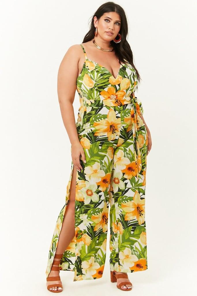 Tropical Floral Print Jumpsuit