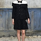 Clemence Poesy at the Chanel show.